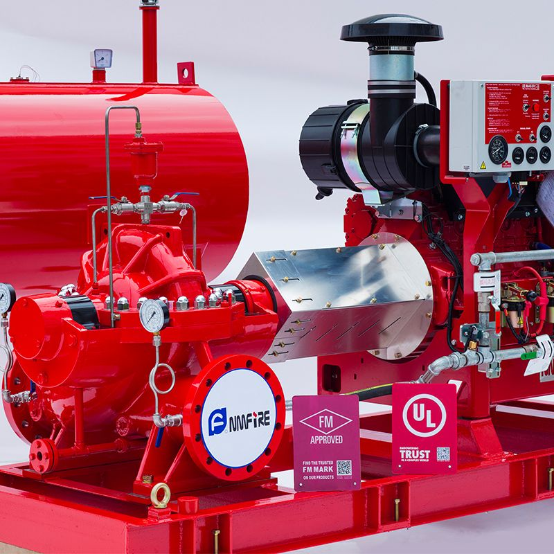 Split-Fall Fire Pump-Gruppe